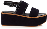Robert Clergerie Flavie suede flatform sandals