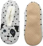 K. Bell K-Bell Women's Novelty Sherpa Slipper, White Dalmatian, SMALL/MEDIUM
