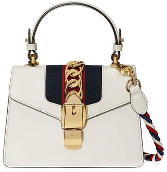 Gucci White Sylvie Small Leather shoulder bag