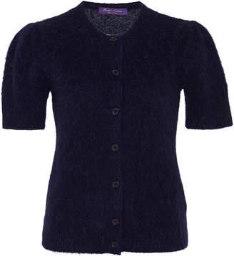 Ralph Lauren Short-Sleeve Cashmere-Blend Cardigan Sweater