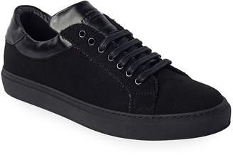 Jared Lang Napoli Suede Low-Top Court Sneakers