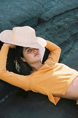 Lack Of Colour Palma Wide Straw Boater Hat