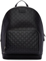 Gucci Black Leather Signature Backpack