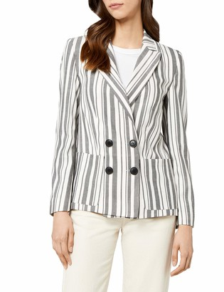 Find. Amazon Brand Women's Fitted Linen Blazer
