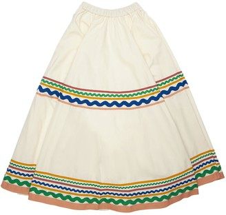 Tia Cibani Embellished Cotton Skirt