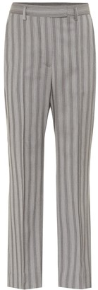 Acne Studios Striped wool high-rise pants