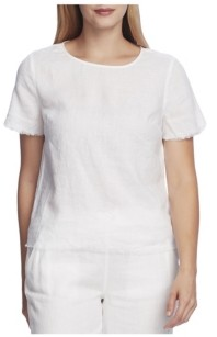 Vince Camuto Women's Frayed Edge Tee