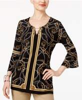 JM Collection Printed Toggle-Chain Tunic, Created for Macy's