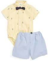 Little Me Infant Boy's Anchor Bodysuit, Tie & Shorts Set