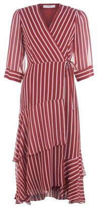 Marella Stripe Wrap Dress