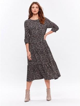 M&Co Petite animal midi dress