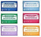 Dr. Bronner's Magic Soaps Pure-castile Soap Variety Gift Pack Sampler; 6 Assorted 5 Ounce Bars