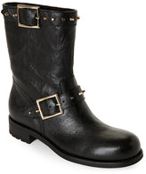 Jimmy Choo Black Dash Studded Biker Boots