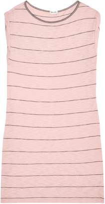 Splendid Striped Slub Cotton And Modal-blend Jersey Mini Dress