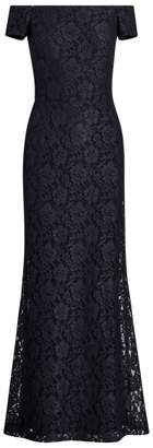 Ralph Lauren Lace Off-the-Shoulder Gown