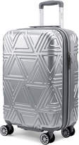 "Badgley Mischka 20"" Silver Contour Upright Spinner"