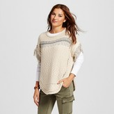 Heather B Women's Cocoon Pullover with Fringe Sleeve