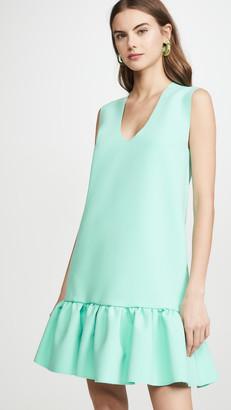 MSGM Drop Ruffle Waist Shift Dress