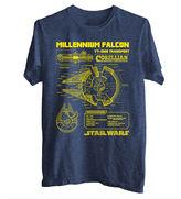 Star Wars STARWARS Falcon Schematics Graphic T-Shirt