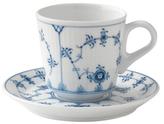 Royal Copenhagen Fluted Plain Espresso Cup & Saucer