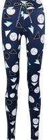 The Upside Match Point Printed Stretch Leggings - Navy