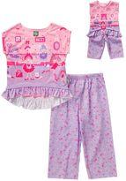Dollie & Me Girls 4-14 Ballerina Pajama Set
