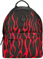 John Richmond Kids flames print backpack