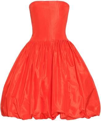 Oscar de la Renta Strapless Silk-taffeta Dress