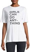 Zadig & Voltaire Bella Crewneck Slogan Cotton T-Shirt