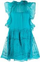 Alberta Ferretti broderie anglaise short dress