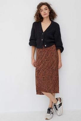 Maeve Mazie Pleated Midi Skirt
