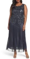 Pisarro Nights Plus Size Women's Beaded Chiffon Gown