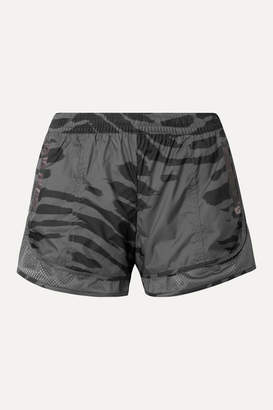 adidas by Stella McCartney Run M20 Mesh-trimmed Printed Climastorm Shorts - Gray