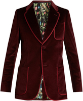 Gucci Single-breasted brushed-velvet blazer