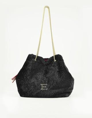 Ermanno Scervino Black Fabric Shoulder Bag