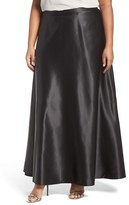 Alex Evenings Plus Size Women's Satin Long Circle Skirt
