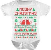 TeeStars - Cute Xmas Bodysuit - Meowy Christmas Ugly Sweater Design Baby Onesie