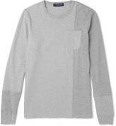 Undercover - Waffle-knit Panelled Cotton-jersey Sweatshirt