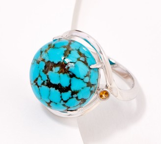 Generation Gems Round Gemstone Cabochon Sterling Silver Ring