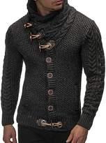 Ur-fashion Men's Thick Warm Coat Cashmere Turtleneck Wool Sweater Cardigan Lapel Tide