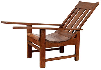 One Kings Lane Vintage Indonesian Teak Plantation Lounge Chair - FEA Home