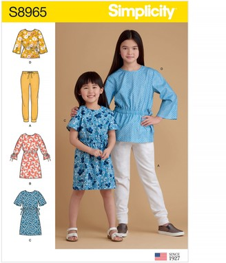 Simplicity Children's Dress, Top and Joggers Sewing Pattern, 8965
