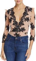 For Love & Lemons Amber Scalloped Lace Bodysuit
