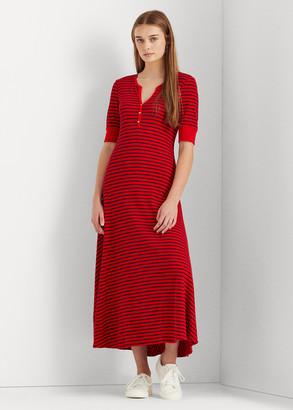 Ralph Lauren Striped Cotton Henley Dress