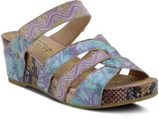 L'Artiste Pinriyo Wedge Slide Sandal