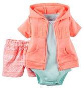 Carter's Girls' 3-Piece Short Sleeve Cardigan Set