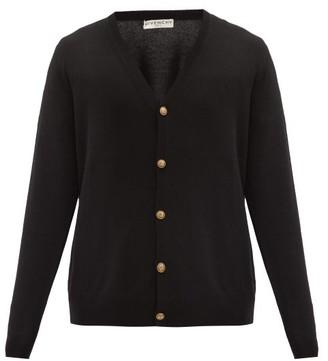 Givenchy Logo-button Cashmere Cardigan - Black