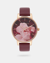 Ted Baker Porcelain Rose leather watch