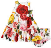 Dolce & Gabbana Sleeveless Multi-Rose Dress w/ Bloomers, Size 12-30 Months