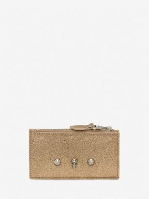 Alexander McQueen Skull and Stud Zipper Cardholder